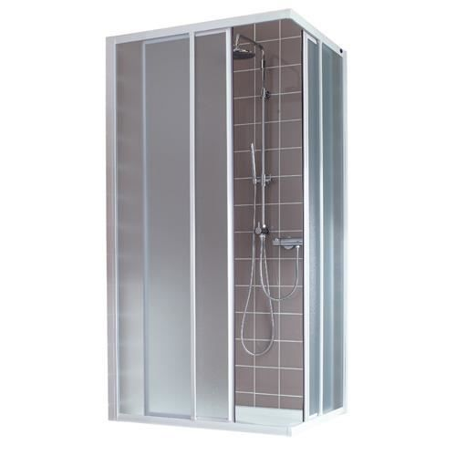 Porte de douche acc s d 39 angle verre transpare achat vente cabine - Porte de douche d angle ...