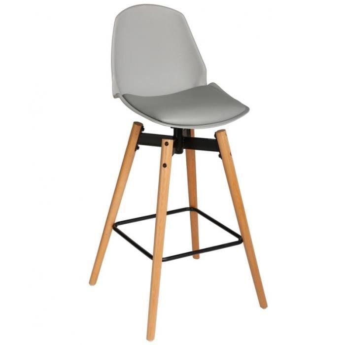 chaise de bar lot de 2 wilio gris achat vente tabouret de bar soldes cdiscount. Black Bedroom Furniture Sets. Home Design Ideas