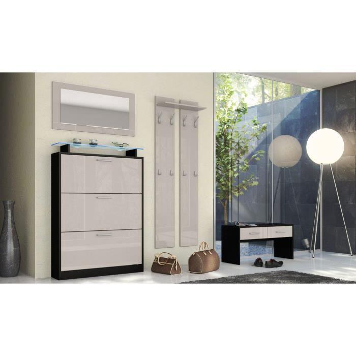 ensemble penderie noir sable achat vente meuble d 39 entr e ensemble penderie noir sabl cdiscount. Black Bedroom Furniture Sets. Home Design Ideas
