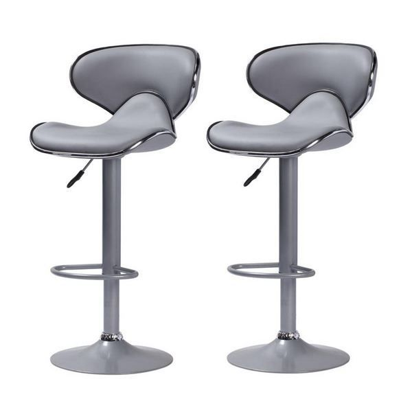 Lot de 2 tabourets de bar colorado gris taupe achat - Tabouret de plan de travail ...