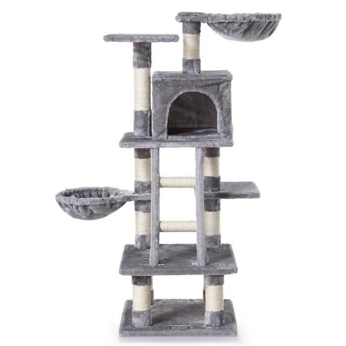 arbre a chat gris 115cm achat vente arbre chat arbre a chat gris 115cm soldes d t. Black Bedroom Furniture Sets. Home Design Ideas