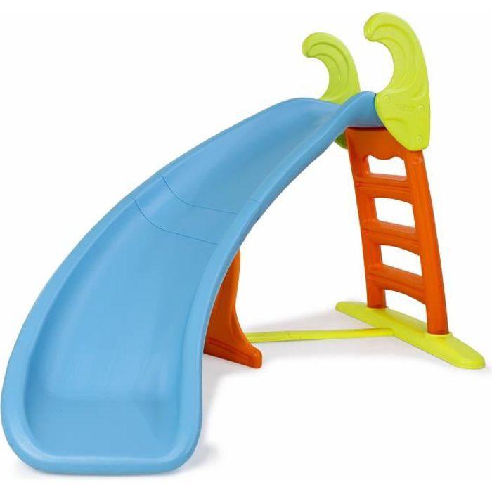 feber toboggan enfant tournant slide curve achat vente toboggan cdiscount. Black Bedroom Furniture Sets. Home Design Ideas