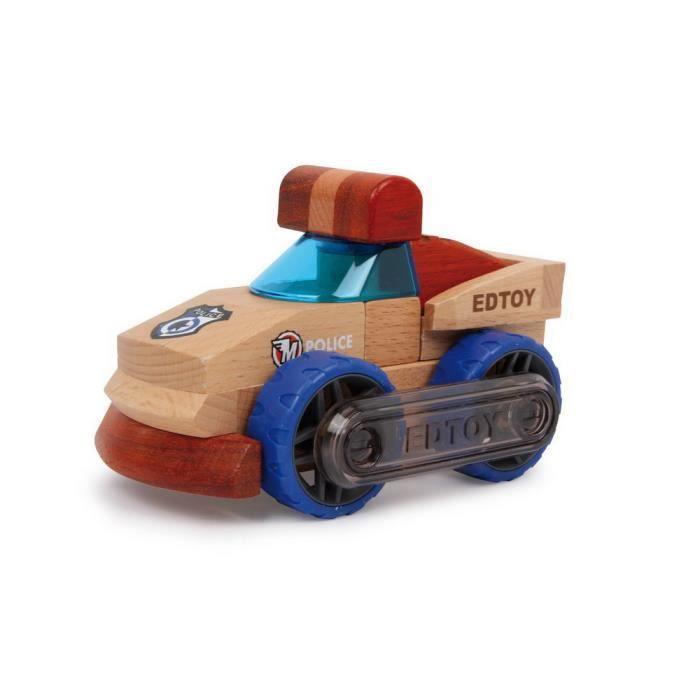 petite voiture de police en bois construire thomas achat vente voiture camion cdiscount. Black Bedroom Furniture Sets. Home Design Ideas