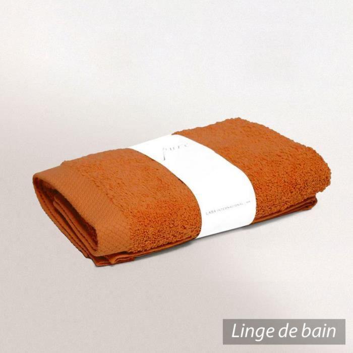 drap de douche 70x140 cm pure orange safran 550 achat vente serviettes de bain cdiscount. Black Bedroom Furniture Sets. Home Design Ideas