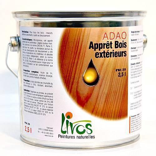 miel 10l sous couche bois ext rieure pour lasure et peinture huile partir de 0 75l adao. Black Bedroom Furniture Sets. Home Design Ideas