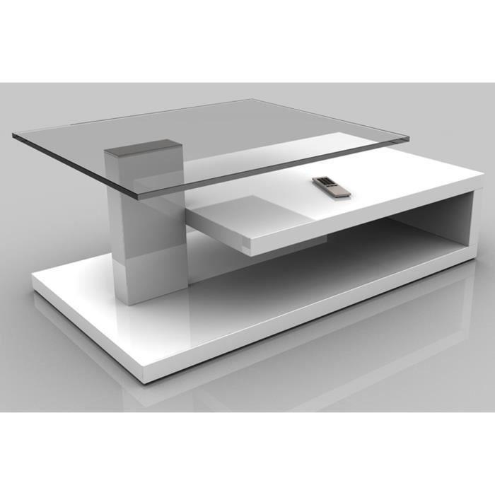 Table basse marta laque blanche haute brillance 1030 x 600 x 400 cm achat - Table basse laque blanche ...