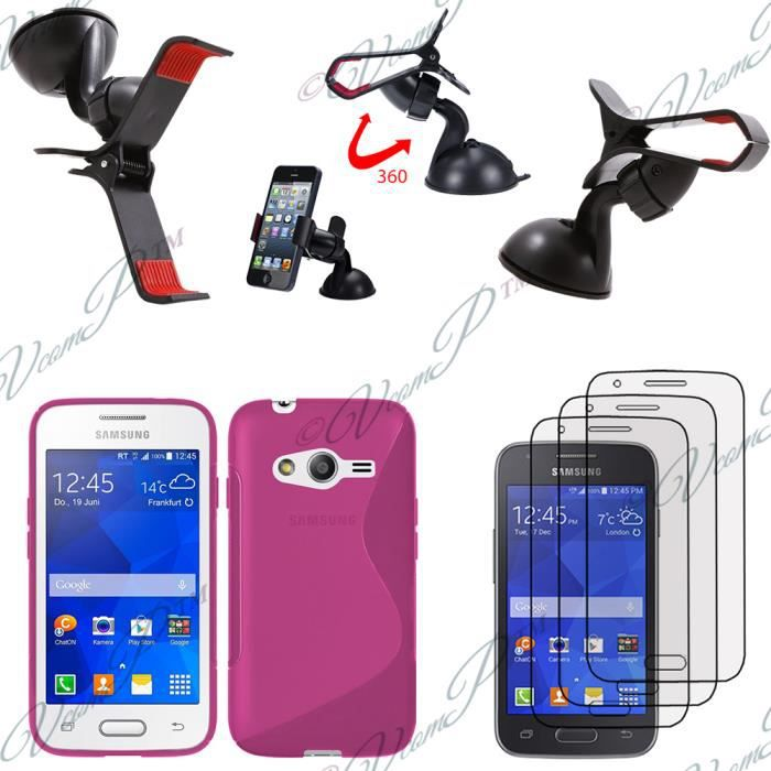 Pour samsung galaxy trend 2 lite sm g318h lot 5 accessoires coque silicone gel films support - Accessoires samsung galaxy trend lite ...