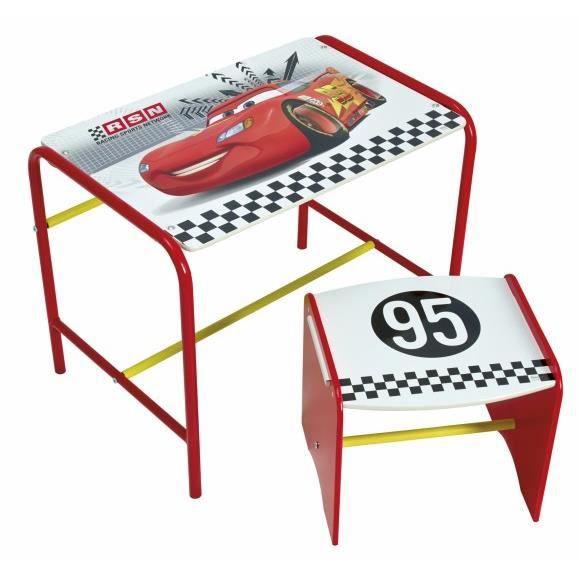 bureau pupitre table avec chaise cars achat vente bureau b b enfant cdiscount. Black Bedroom Furniture Sets. Home Design Ideas