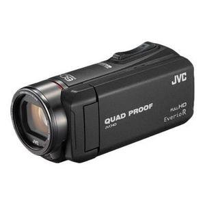 Caméscope JVC GZ-R410BEU Tout-Terrain FULL HD Memory Camcorder - Etanche 5m - Antichocs -Antigel - Antipoussi?re - Batterie interne longue durée 5H - Zoom optique x40 - Zoom numérique x100 - AIS - 2.5M CMOS - Couleur: Noir Brillant
