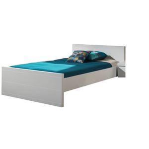 cadre de lit 120 x 190 achat vente cadre de lit 120 x 190 pas cher cdiscount. Black Bedroom Furniture Sets. Home Design Ideas