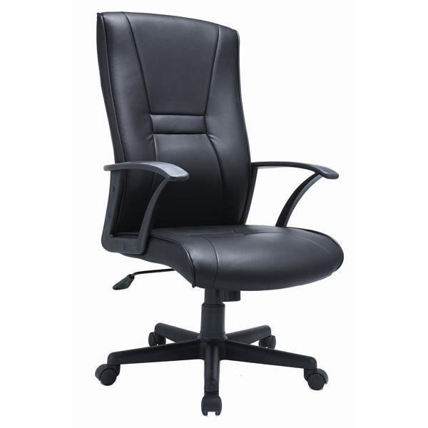 Fauteuil chaise de bureau similicuir noir achat vente for Housse de chaise en cuir