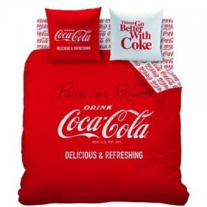 Coca cola enjoy achat vente parure de couette cdiscount - Housse de couette coca cola ...