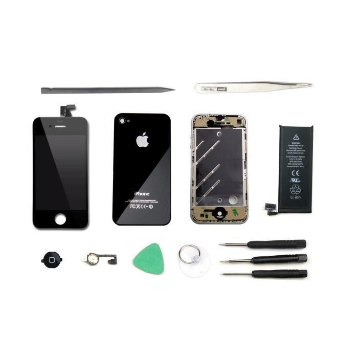 kit de remise neuf iphone 4 noir achat pi ce t l phone pas cher avis et meilleur prix. Black Bedroom Furniture Sets. Home Design Ideas