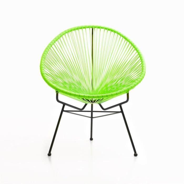 acapulco vert fauteuil design achat vente fauteuil jardin acapulco vert fauteuil de. Black Bedroom Furniture Sets. Home Design Ideas