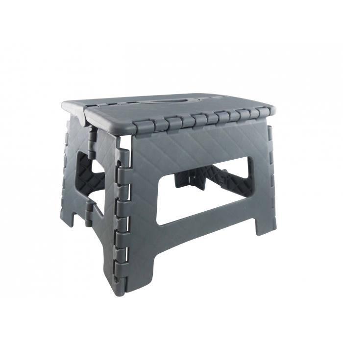 marche pied pliant petit mod le gris achat vente. Black Bedroom Furniture Sets. Home Design Ideas