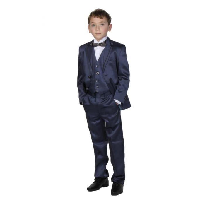 costume de c r monie bleu nuit de gar on 3 pi c bleu achat vente costume tailleur. Black Bedroom Furniture Sets. Home Design Ideas