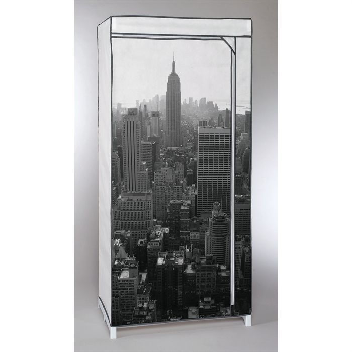 Armoire penderie new york empire state building achat vente dressing pe - Armoire penderie cdiscount ...
