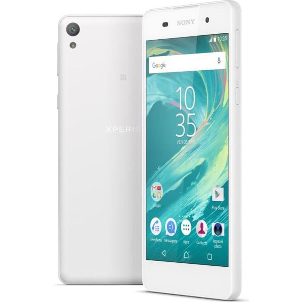 sony xperia e5 blanc achat smartphone pas cher avis et meilleur prix soldes d t cdiscount. Black Bedroom Furniture Sets. Home Design Ideas