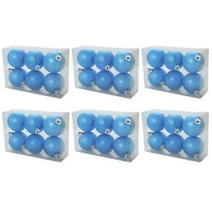 KIT DE DECORATION Set de 18 boules de Nöel Chic 6 cm bleu