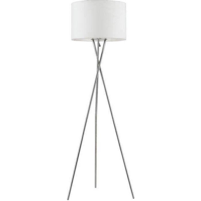 Lampadaire mikado blanc tr pied hauteur 160cm achat vente lampadaire mikado pied m tal Lampadaire trepied blanc