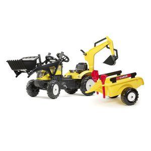 TRACTEUR - CHANTIER FALK Tracteur à pédales Jaune Ranch excavatrice pe