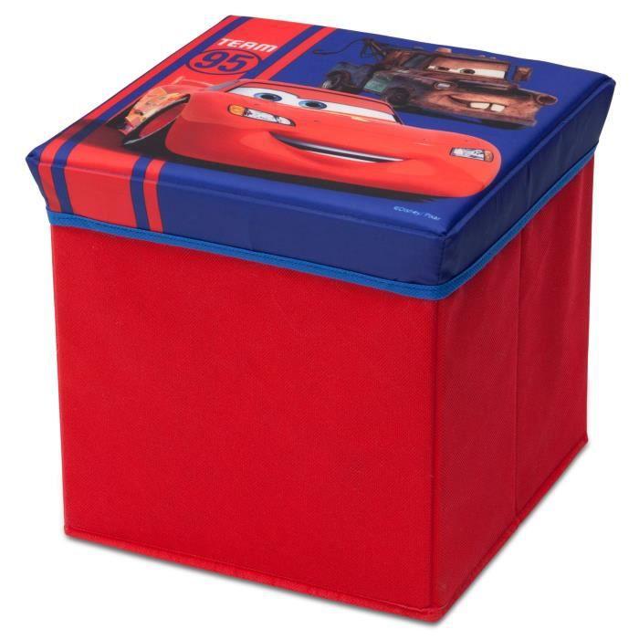 Cars pouf de rangement coffre jouet achat vente coffre jouets cdiscount - Grand coffre a jouet cars ...