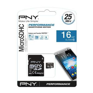 PNY Micro SD 16 Go class 10 Android