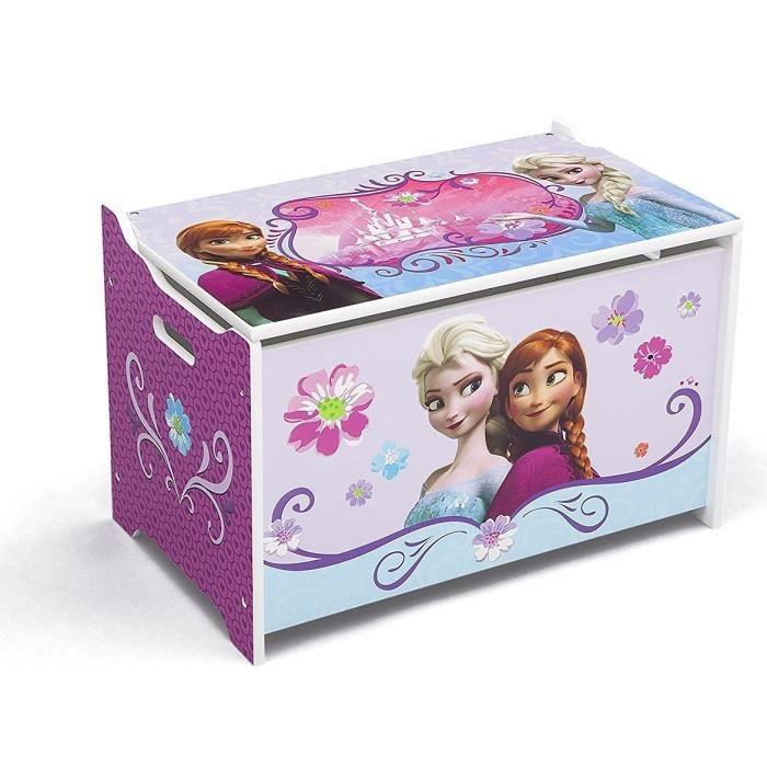 la reine des neiges coffre jouets en bois achat vente coffre jouets cdiscount. Black Bedroom Furniture Sets. Home Design Ideas