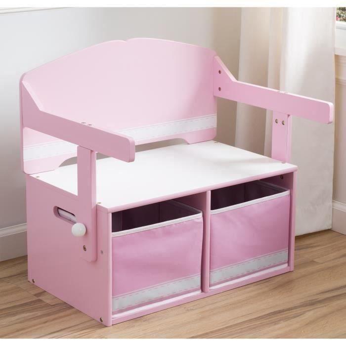 bureau convertible enfant bois avec rangement achat vente bureau b b enfant cdiscount. Black Bedroom Furniture Sets. Home Design Ideas