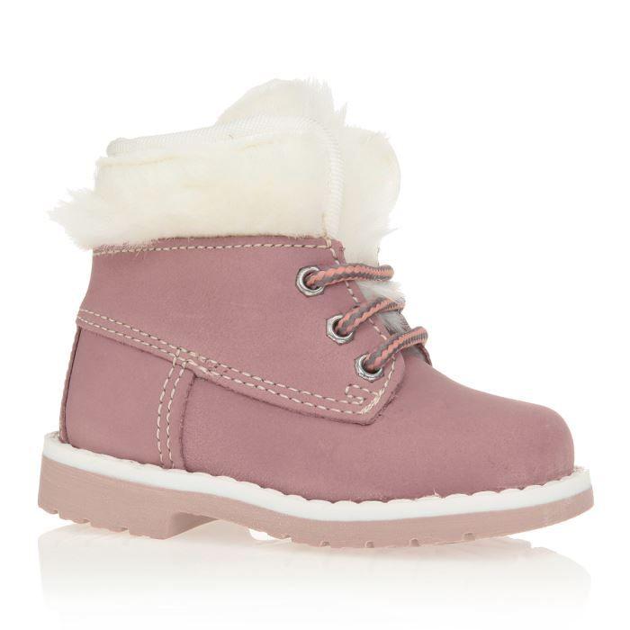 patatras bottillons chaussures b b et enfant fille rose et blanc achat vente bottillon. Black Bedroom Furniture Sets. Home Design Ideas