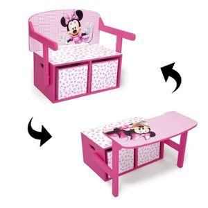 minnie bureau transformable enfant bois avec rangement. Black Bedroom Furniture Sets. Home Design Ideas