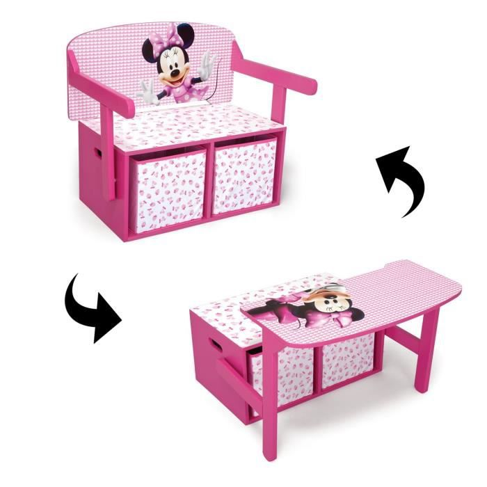 Minnie banc pupitre achat vente chaise de bureau mn for Bureau coffre 3 en 1