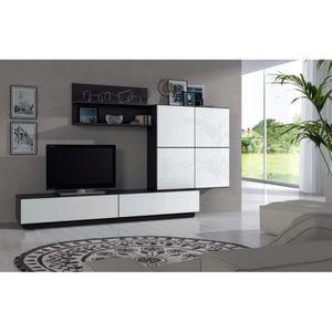 Meuble tv achat vente meuble tv pas cher cdiscount for Finlandek meuble tv mural katso 160 cm coloris blanc et noir