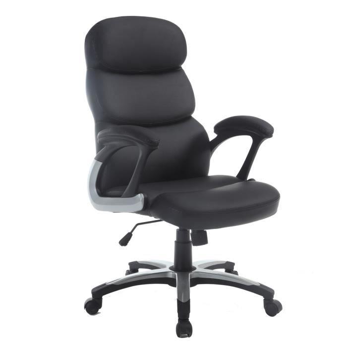 fauteuil de bureau pivotant r glable sweet noir grand confort achat vente chaise de bureau. Black Bedroom Furniture Sets. Home Design Ideas
