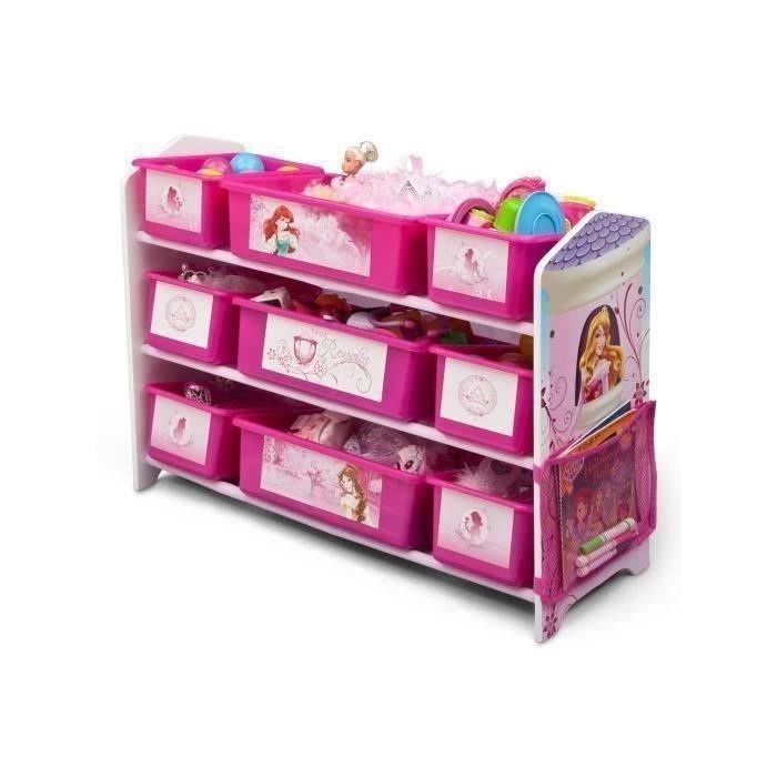 Disney princesses meuble de rangement enfant 9 bacs - Meuble rangement minnie ...