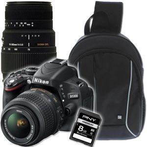 NIKON D5100 + 18-55mm + 70-300mm + Sac à dos + SD