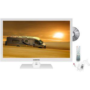 Téléviseur LED OCEANIC TV LED HD 49.5cm (19.5'') 12V Combo DVD Bl