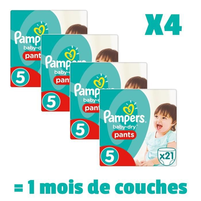 pampers baby dry pants taille 5 12 18kg 84 couches. Black Bedroom Furniture Sets. Home Design Ideas