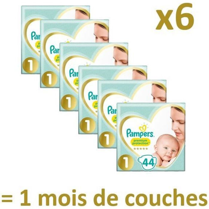 pampers new baby taille 1 2 5kg 264 couches format. Black Bedroom Furniture Sets. Home Design Ideas