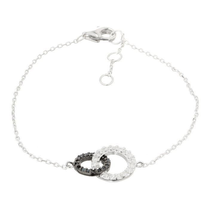 monplaisir bracelet argent 925 et oxydes de zirconium femme argent et blanc achat vente. Black Bedroom Furniture Sets. Home Design Ideas