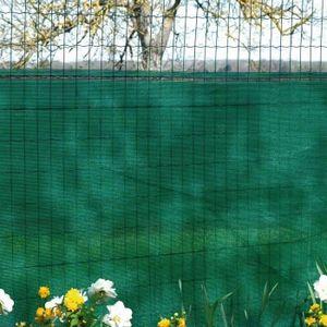 TREILLE - TREILLIS Brise vue vert 130 g/m² occultation à 85% 1,20 x 1