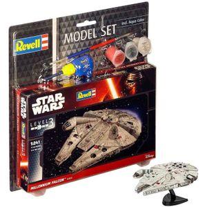STAR WARS Model Set Millennium Falcon Maquette ? Construire, ? Coller et ? Peindre, Avec Accessoires