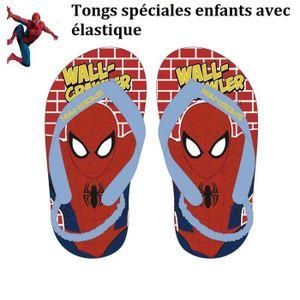 Tong gar on 26 avec lastique spiderman chaussure t enfant h ro marvel sandale de bain l 39 homme - Araignee rouge dangereux pour l homme ...