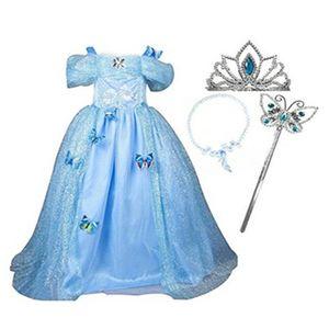 DÉGUISEMENT - PANOPLIE Costume de robe princesse bleue avec bandeau colli