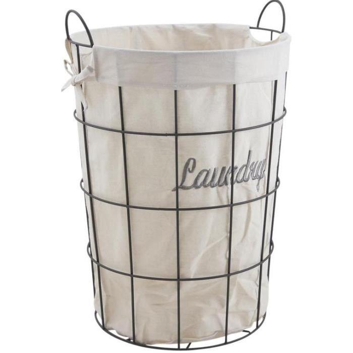 panier linge m tal laundry achat vente panier linge m tal laundry soldes cdiscount. Black Bedroom Furniture Sets. Home Design Ideas
