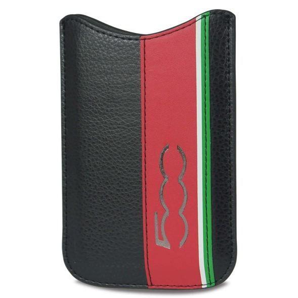 Etui iphone 5 pouch aspect cuir noir d 39 origine achat for Housse fiat 500