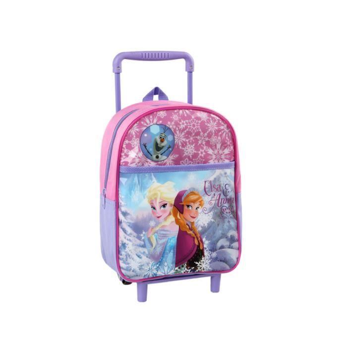 sac a dos enfant avec roulettes reine des neiges frozen ecole et loisirs rose achat vente. Black Bedroom Furniture Sets. Home Design Ideas