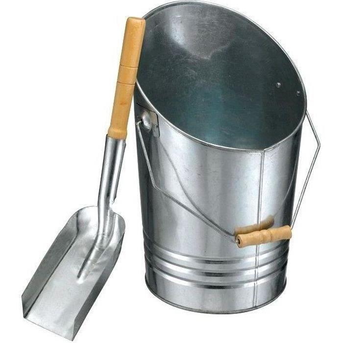 Seau métallique pour cendres