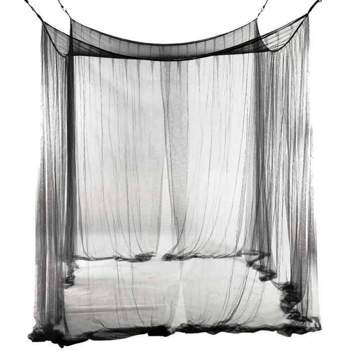 4 coin 190 210 240cm filet moustiquaire pour lit queen. Black Bedroom Furniture Sets. Home Design Ideas
