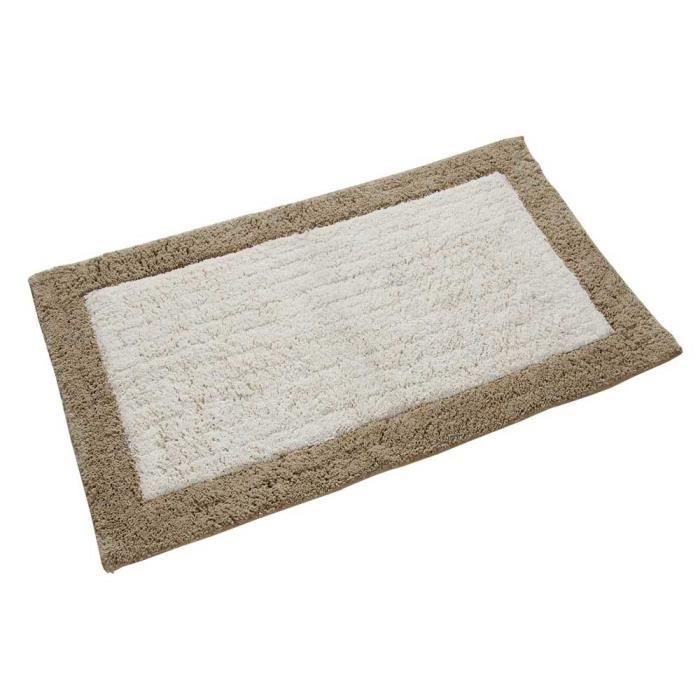 tapis de bain ponge 50 x 80 cm coloris beige achat. Black Bedroom Furniture Sets. Home Design Ideas